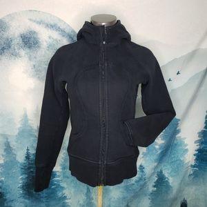 Lululemon Black Hooded Scuba Jacket Size 6